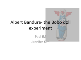 Bandura - the Bobo doll experiment
