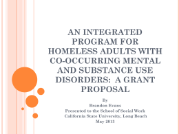 an integrated program for homeless adults with co