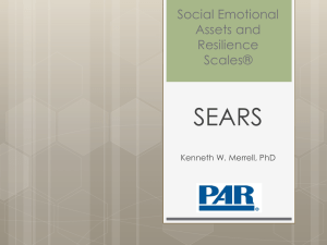 Social Emotional Assets and Resilience Scales™ (SEARS)