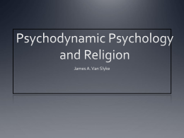 Psychodynamic Psychology and Religion
