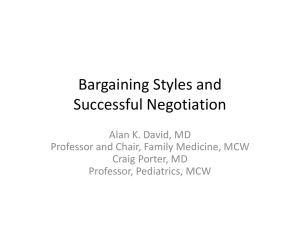 Bargaining Styles and Successful Negotiation