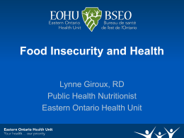 Food Insecurity: A Public Health Issue