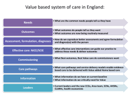 Geraldine Strathdee – Value based system of care in England