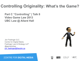 Games - Video Game Law