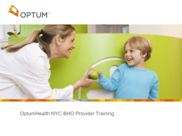 NYCBHOProviderTraini.. - The Coalition of Behavioral Health