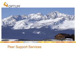 Peer Support Specialist*s