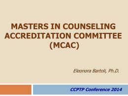 MDAC Presentation (Bartoli) - Council of Counseling Psychology