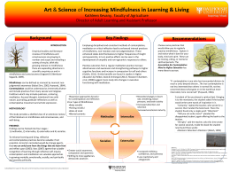 Increasing Mindfulness in Learning & Living