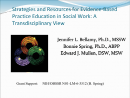 Evidence-Based Behavioral Practice: Essential Skills to Identify