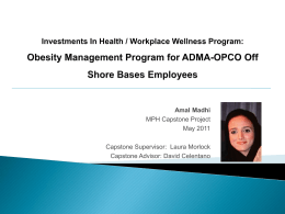 Investments In Health / Workplace Wellness Program