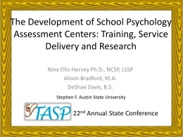 Handout - Texas Association of School Psychologists