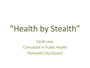 Sarah Lees - Health by Stealth