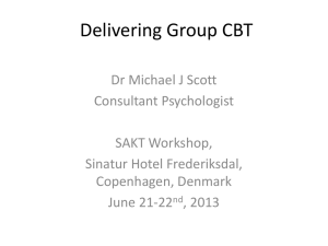 Delivering Group CBT