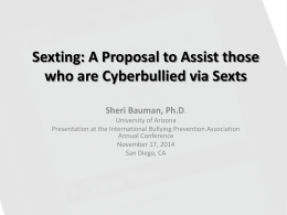 Sexting - International Bullying Prevention Association