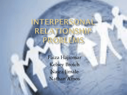 Interpersonal Relationship Problems - deafed-childabuse