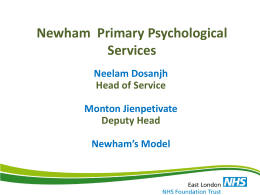 Newham Talking Therapies - Healthcare Conferences UK