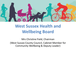 W.S Health & Wellbeing Board