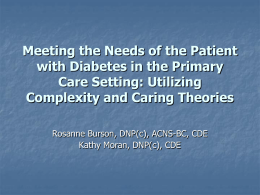 Developing a Diabetes Specific Innovation for P4P