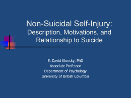 The Relationship Between Non-Suicidal Self
