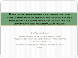How do mental health professionals experience and make sense of