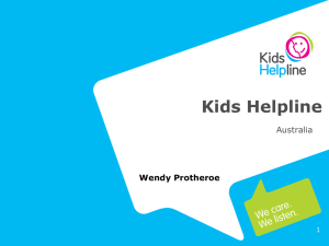 Kids Helpline: Overview of services, structure and challenges