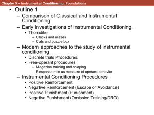 Instrumental Conditioning Foundations