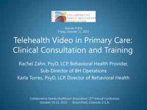 What BHC Looks Like at LCHC? - Collaborative Family Healthcare