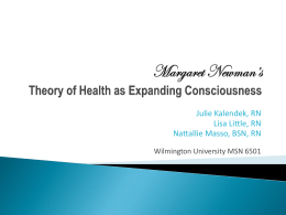 Margaret Newman`s Theory - NsgtheorypresentationSP10