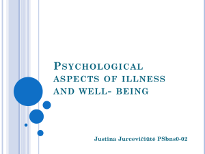 Psychological aspects of illness and well