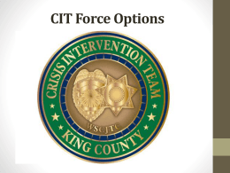 CIT Force Options Training