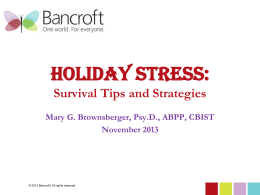 to the Holiday Stress and Mindfulness