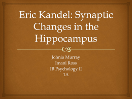 IB Psych II PowerPoint - Eric Kandel