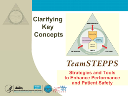 Clarifying TeamSTEPPS Concepts