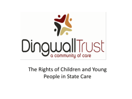 The Rights of Children and Young People in State