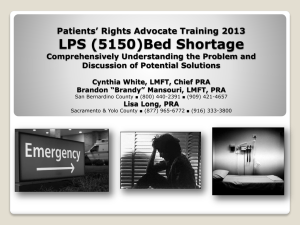 5150 Bed Shortage - Disability Rights California