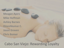 Cabo San Viejo: Rewarding Loyalty PowerPoint