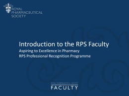 Introduction to the Faculty