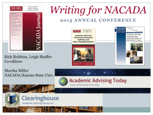 Essentials of Writing for the NACADA Journal