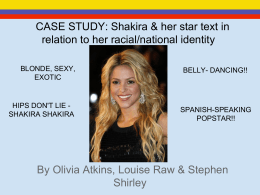 Shakira & her star text in relation to her racial/national identity