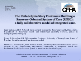 Building a Recovery-Oriented System of Care