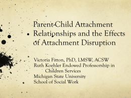 Attachment - School of Social Work