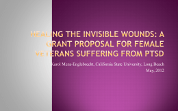 A Grant Proposal for Female Veterans Suffering from PTSD
