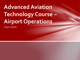 Advanced Aviation Technology Course * Airport