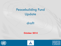 Donors` Briefing September 2014