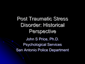 Post Traumatic Stress Disorder Historical Perspective