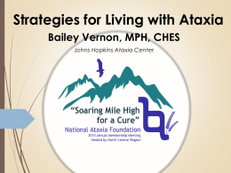 Strategies - National Ataxia Foundation
