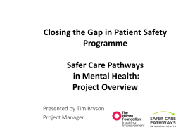 Project Overview (25.09.14 - Mental Health Partnerships