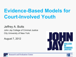 Evidence-Based Models for Court-Involved Youth