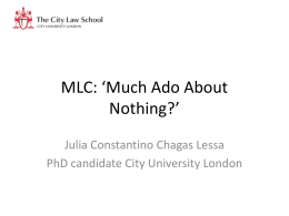 MLC: *Much Ado About Nothing?*