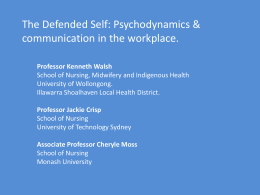 Psychodynamics & communication in the workplace.